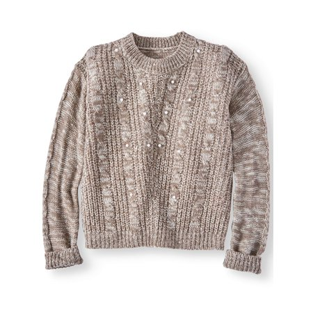 Little Girls Cable (Pearl Cable Knit Sweater (Little Girls & Big Girls) )