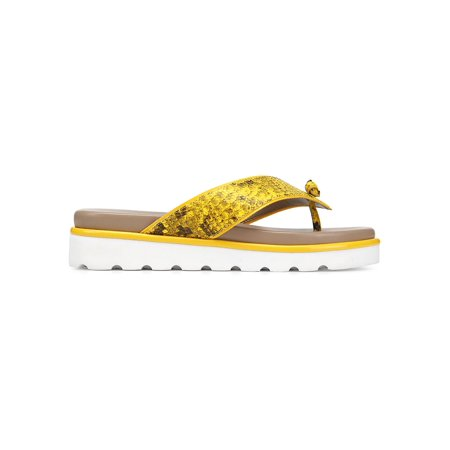 Printed Patent Leather Snake Print Sandals Patent Leather T-strap Sandals