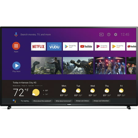 """Philips 50"""" Class 4K Ultra HD (2160p) Android Smart LED TV with Google Assistant (50PFL5604/F7)"""