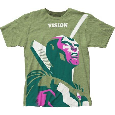 Michael Cho Marvel Comics Vision Adult Big Print Subway T-Shirt Tee