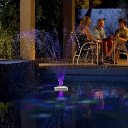 Blue wave aquajet floating pool light show and fountain for Pool light show walmart