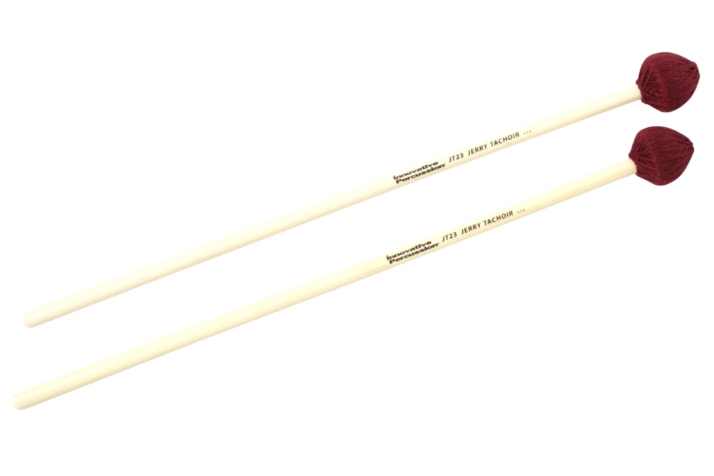 Innovative Percussion Jerry Tachoir Medium Vibraphone Mallets Medium Maroon Cord by Innovative Percussion