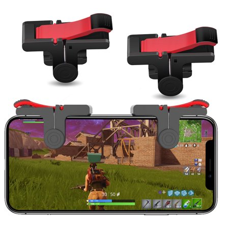 Mobile Phone Triggers for PUBG, EEEkit Cellphone Game Controllers for iOS/Android, Gaming Controls with Sensitive L1R1 Trigger for iPhone 7/7 Plus/iPhone X/iPhone 8 – 2 Pack