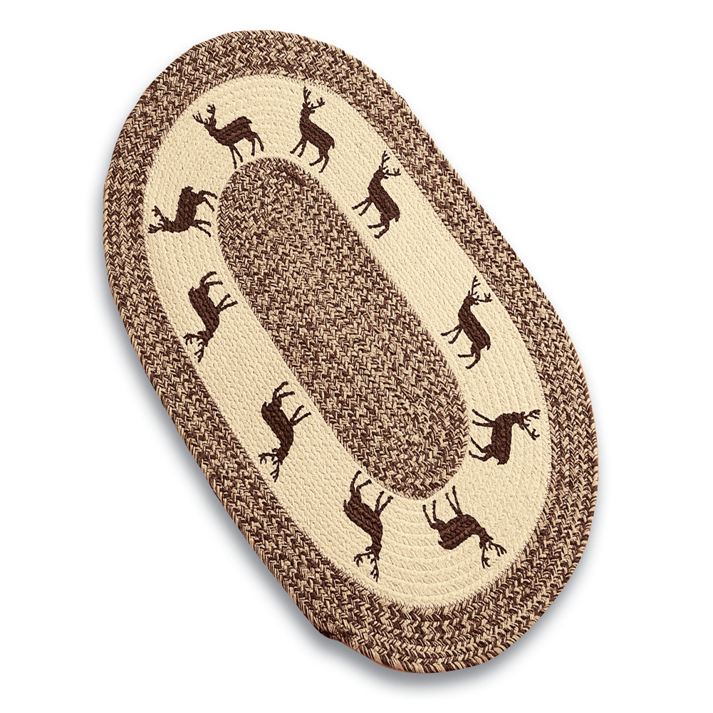 "Woodland Creatures Cotton Braided Rug Rustic Cabin Décor, 20"" X 30\ by Collections Etc"