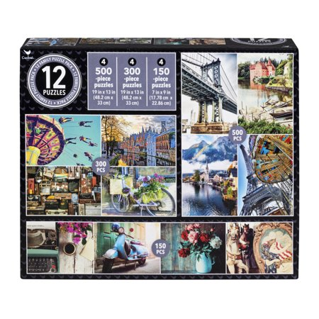 Family 12-Pack of Jigsaw Puzzles - Vintage Photos