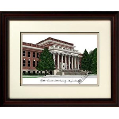 """Campus Images TN999R Middle Tennessee State Blue Raiders Ncaa 14"""" x 18"""" Limited Edition Framed Lithograph"""