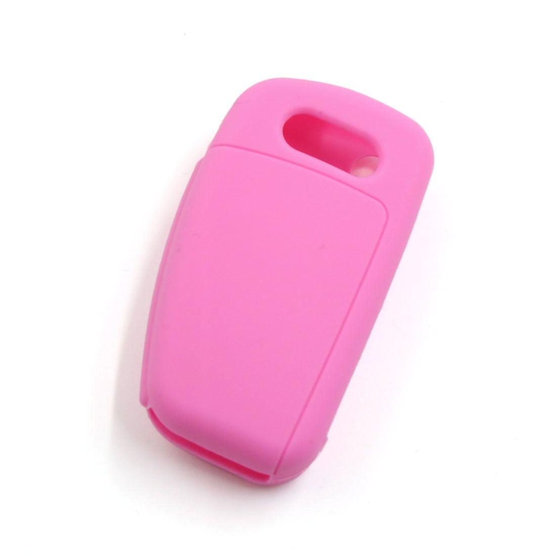 Pink Silicone Car Remote Flip Key Fob Cover Case for  A1 A3 A4L A6L Q7 Q5 Q3 - image 2 de 3