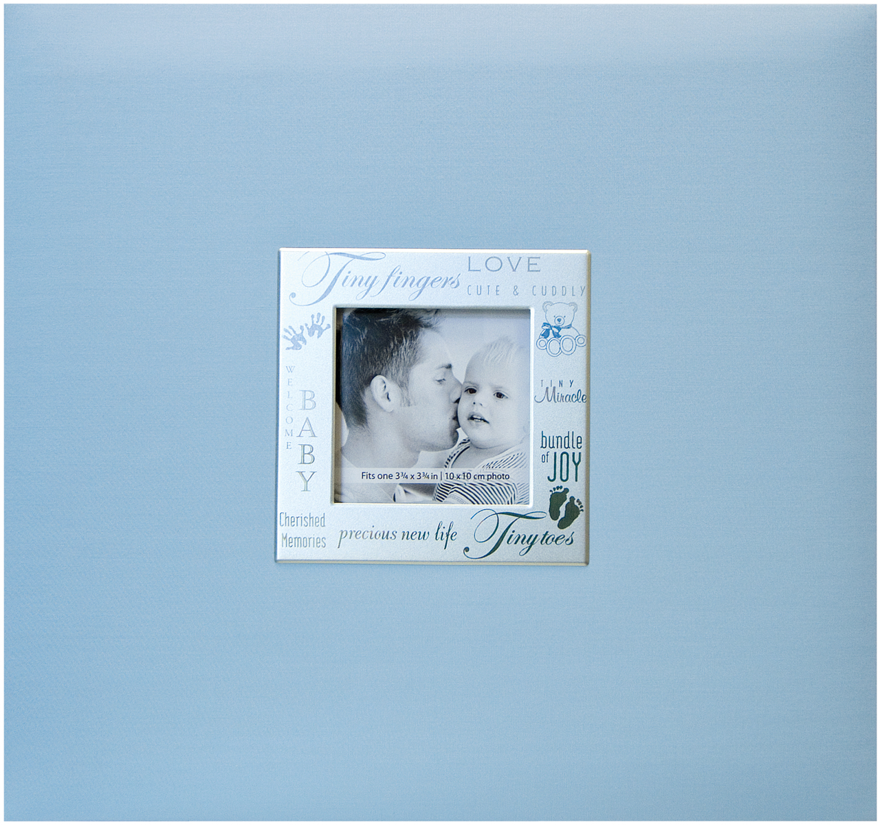 "MBI Expressions Post Bound Album W/Window 8""X8""-Baby - Blue"