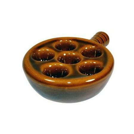 Escargot Dish (Escargot Snail Ceramic Plate with)