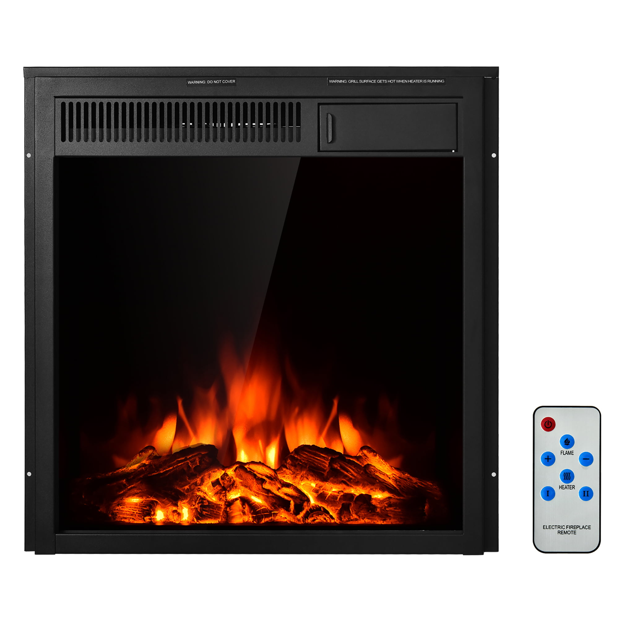 Costway 20.20'' Electric Fireplace Insert Freestanding & Recessed ...