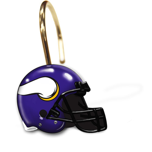 NFL Minnesota Vikings Shower Curtain Rings, Set of 12