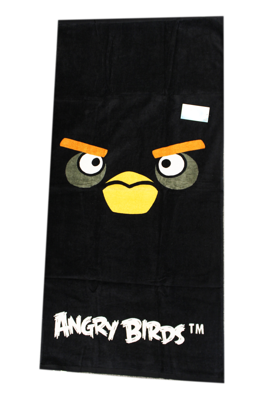 All Black Face Black Angry Birdbath and Beach Towel for Kids by
