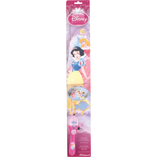 """Shakespeare Disney Princess All-In-One 2'6"""" Rod And Reel Casting Kit with Tackle Box"""