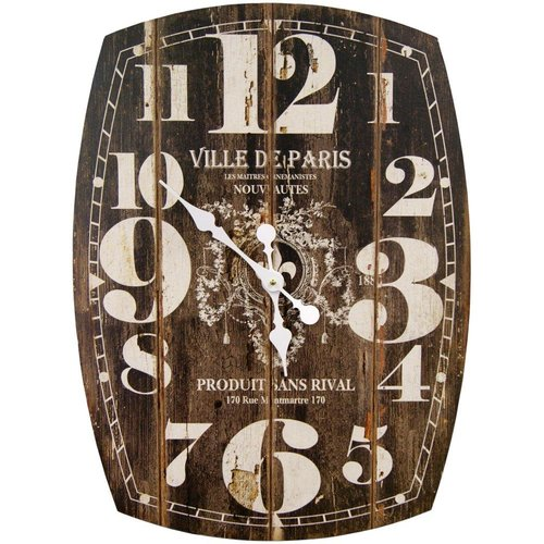 HDC International Oversized Paris Oblong Wall Clock