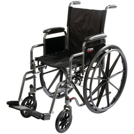 Carex Wheelchair with Swing Away Footrests and Removable Armrests