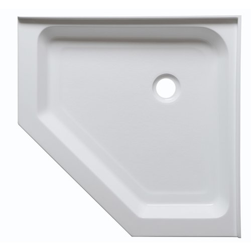 ANZZI Randi 36u0027u0027 X 36u0027u0027 Neo Angle Double Threshold Shower Base