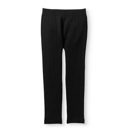 Girls' Seamless Fashion Solid Fleece Cable Leggings - Girls Sparkle Leggings