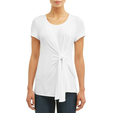 Women's Tie Waist Short Sleeve T-Shirt