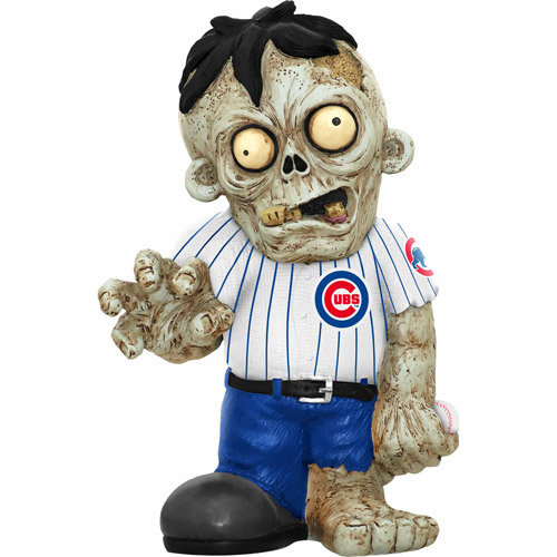 Forever Collectibles MLB Resin Zombie Figurine, Chicago Cubs