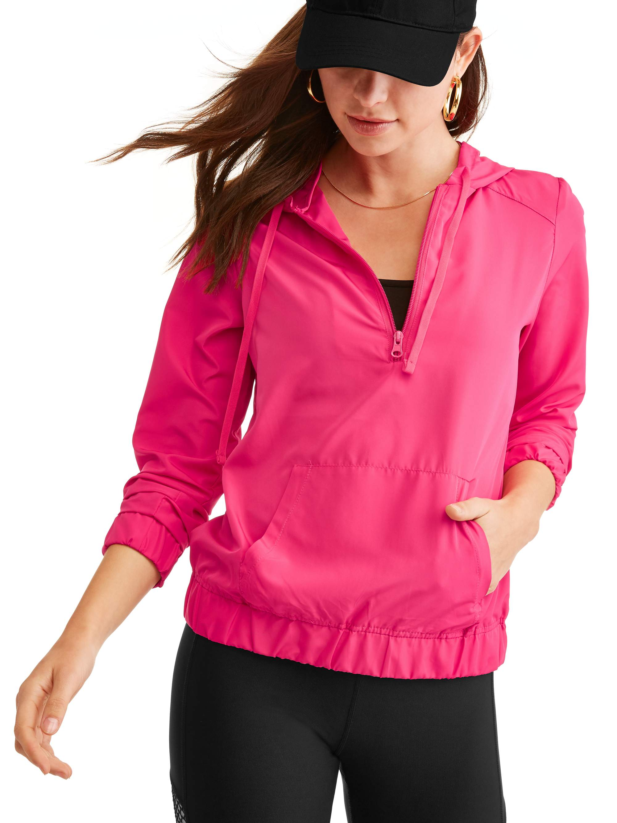 Women's Core 1/2 Zip Pullover Hoodie Windbreaker