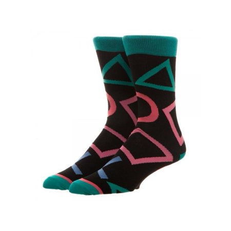 Sony Playstation Large All Over Print Crew Socks w/Gift Box by Superheroes Brand