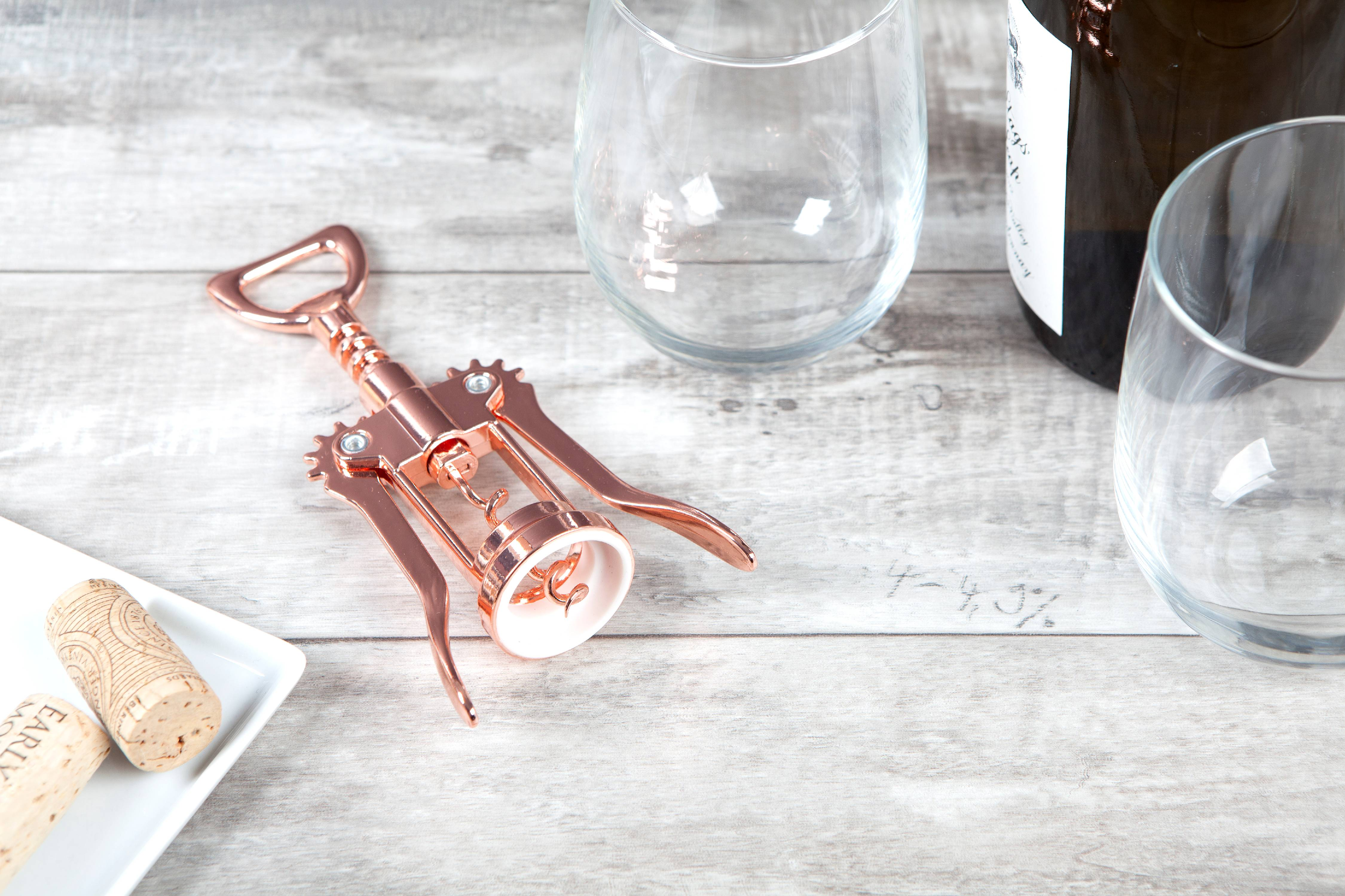 Thyme & Table Copper Plated Stainless Steel Winged Corkscrew