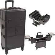 Sunrise I3464PPAB Black Smooth Trolley Makeup Case - I3464