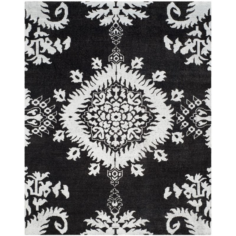 Safavieh Stone Wash 6 X 9 Hand Knotted Rug In Charcoal