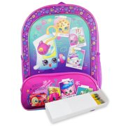 "Girls Shopkins Backpack 16"" Selfie Holographic & Pencil Case 2Pcs"