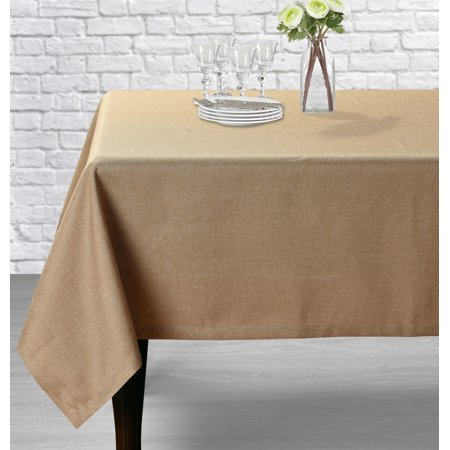 Aiking Home Classic Fine Faux Linen Table Cloth-Size 52