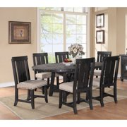 Modus Round Yosemite 7 Piece Oval Dining Table Set with Wood Chairs