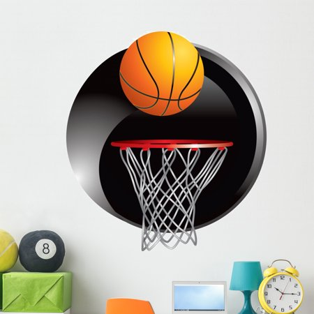 87892a113b72 Basketball Going into Hoop Wall Decal by Wallmonkeys Peel and Stick Graphic  (48 in H x 44 in W) WM69560 - Walmart.com