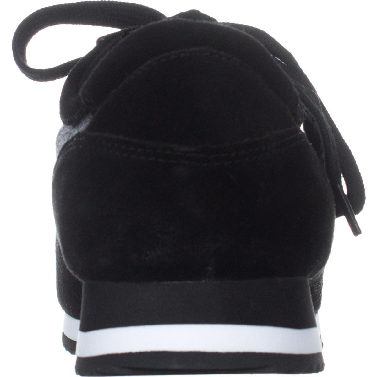 Womens Bella Vita Emile Lace Up Fashion Sneakers, Black/Grey