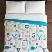Mainstays Kids Story Time Reversible Microfiber Comforter