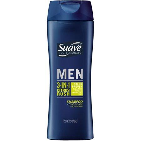 Suave Men Citrus Rush 3 in 1 Shampoo Conditioner and Body Wa