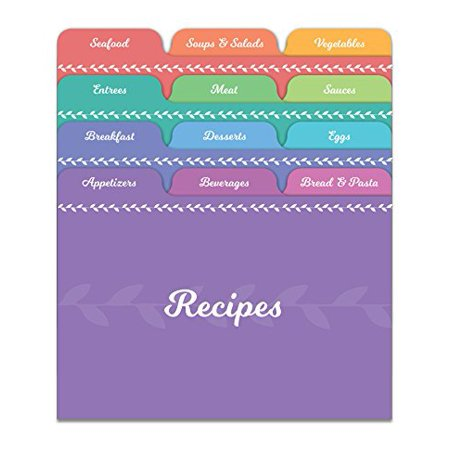 Jot & Mark Recipe Card Dividers | 24 Tabs per Set, Works With 4x6 Inch Cards, Helps Organize Recipe Box (Rainbow)](Recipe Box And Cards)