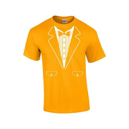 Black And Gold Tuxedo (Tuxedo T-Shirt Formal Tuxedo With)