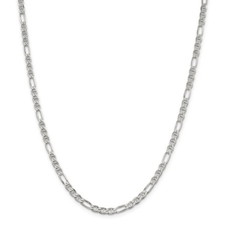 925 Sterling Silver 3.75mm Figaro Link Anchor Chain Necklace 18 Inch Pendant Charm Gifts For Women For Her