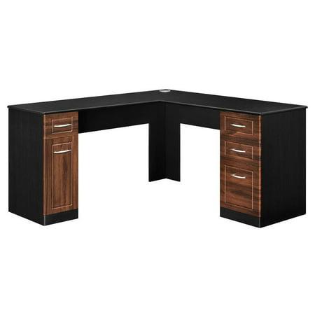 Altra Avalon L Desk, Cherry/Black ()