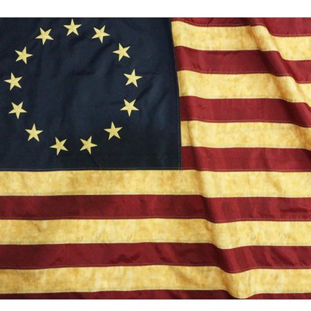 3x5 Foot Betsy Ross Flag Double Stitched 13 Colonies Flag with Brass Grommets | 3 by 5 Foot Premium Indoor Outdoor Polyester (Betsy Ross Flag Picture)