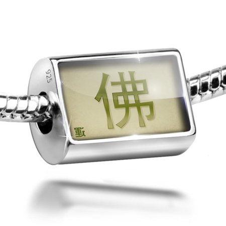 Bead Buddha Chinese characters, green letter Charm Fits All European Bracelets