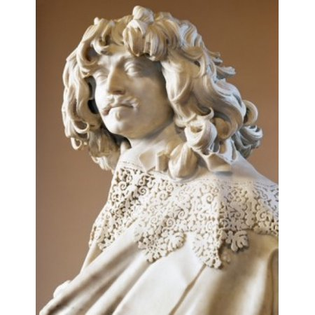 Thomas Baker by Gian Lorenzo Bernini marble sculpture circa 1638  (1598-1680) Canvas Art - Gian Lorenzo Bernini (18 x 24)