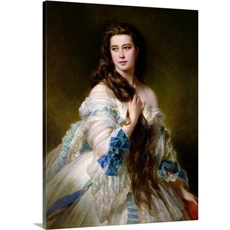 Great BIG Canvas Franz Xaver Winterhalter Premium Thick-Wrap Canvas entitled Portrait of Madame Rimsky-Korsakov (1833-78) nee Varvara