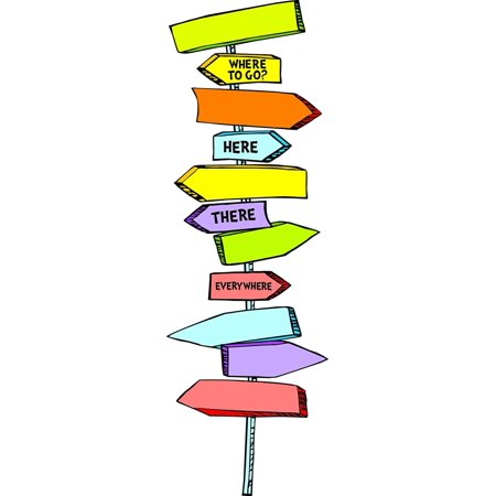 Classroom Bulletin Board Set, Dr. Seuss Directional Signs Mini Bulletin, Die cut pieces perfect for decorating bulletin boards, windows, chalkboards,.., By Eureka