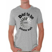 Awkward Styles Men's Dad To Be Loading Please Wait Graphic T-shirt Tops New Dad Gift Father's Day