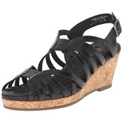 Walking Cradles Women's Amelie Sandal, Black, 10 M US