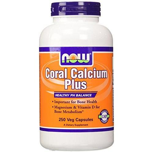 Now Foods Coral Calcium Plus Mag 250 Vcaps (Pack Of 2)