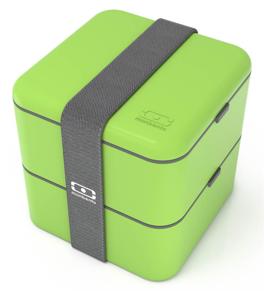 Square Bento Box in Green