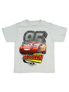 disney boys' cars 7 time champ 95 lightning mcqueen shirt