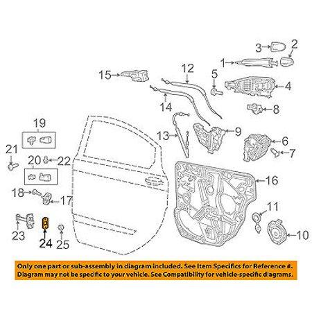 Dodge CHRYSLER OEM 13-16 Dart Lock -Rear Door-Check Strap Seal 68103052AC